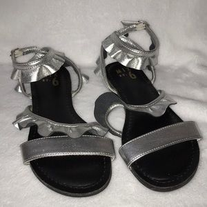 Mix No 6 Silver/Black Sandals